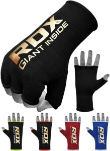 RDX Boxing Hand Wraps Inner Gloves for Punching - Half Finger Elasticated Bandages Under Mitts Fist Protection