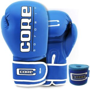 Core Boxing Gloves with Free Hand wrap Adult Sparring Training Boxing Gloves