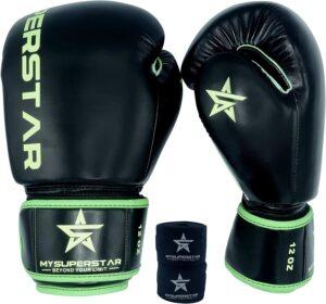 MYSUPERSTARBOXING Pro Boxing Fighting Bag Gloves